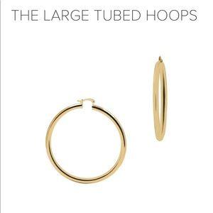 The M Jewelers Large Tubed Hoop Earrings
